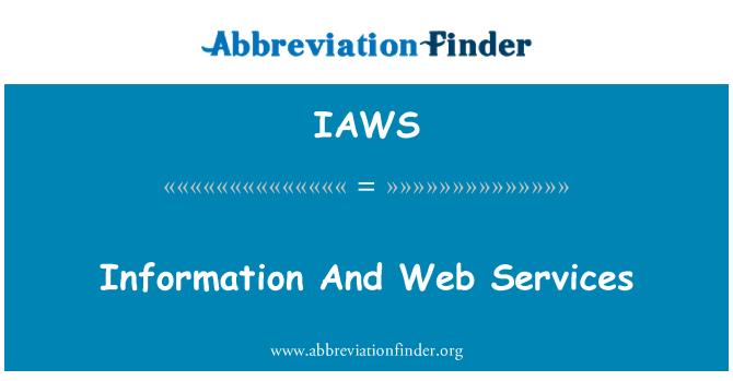 IAWS: Información y servicios Web