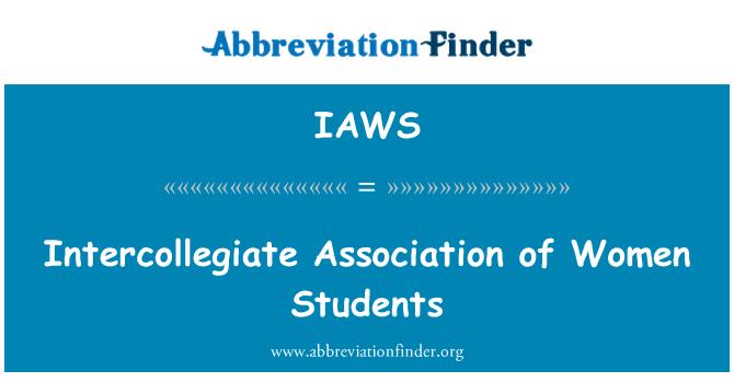 IAWS: Asociación Intercolegial de mujeres estudiantes