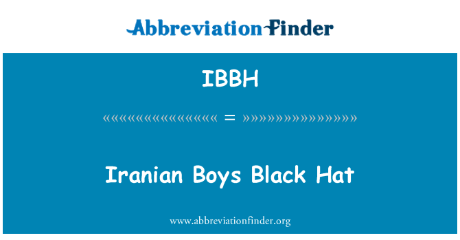 IBBH: Los niños Irán negro sombrero
