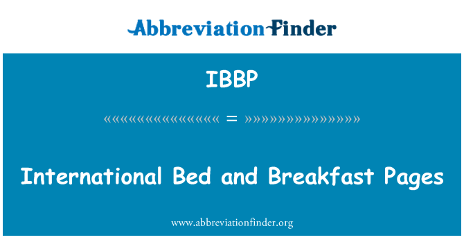 IBBP: International Bed and Breakfast Pages