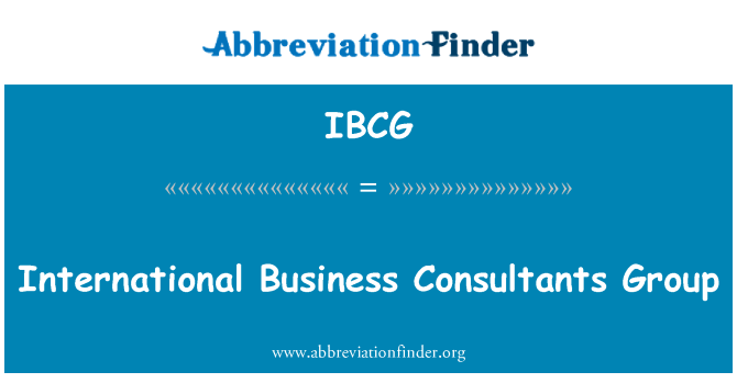 IBCG: International Business Consultants Group