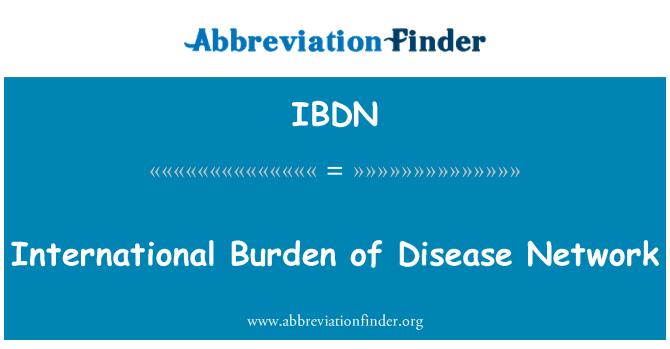 IBDN: Carga internacional de la red de enfermedades