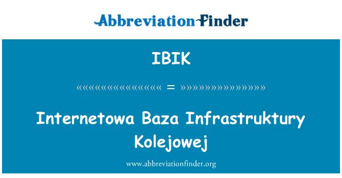 IBIK: Internetowa Baza Infrastruktury Kolejowej