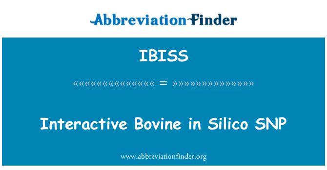 IBISS: Interactive Bovine in Silico SNP