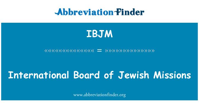 IBJM: Junta Internacional de misiones judías