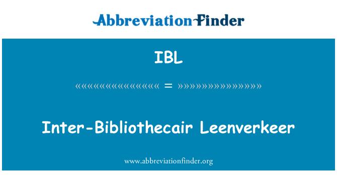 IBL: Inter-Bibliothecair Leenverkeer