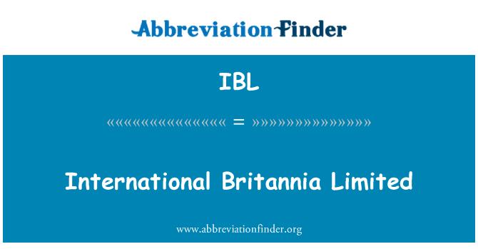 IBL: International Britannia Limited