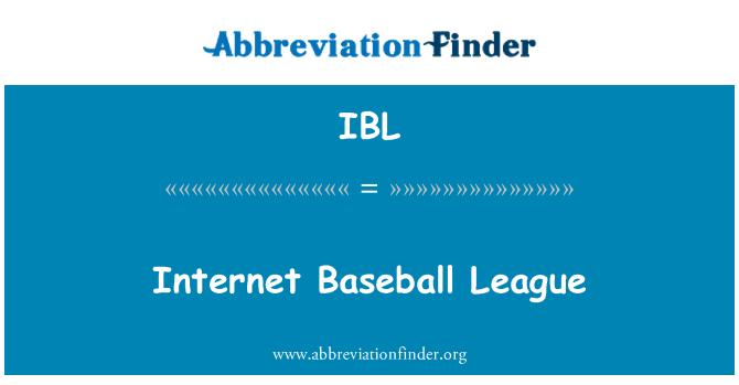 IBL: Internet Baseball League