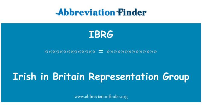 IBRG: Irish in Britain Representation Group
