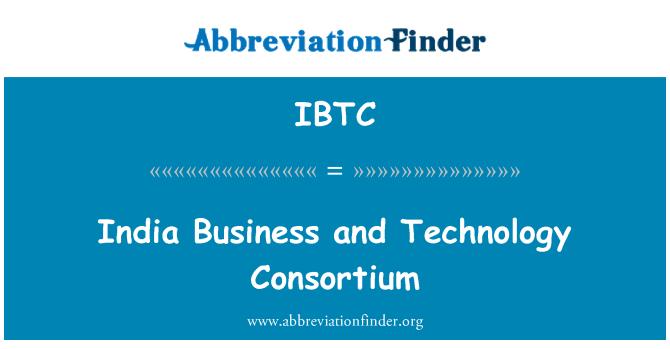 IBTC: Hindistan iş ve teknoloji Konsorsiyumu