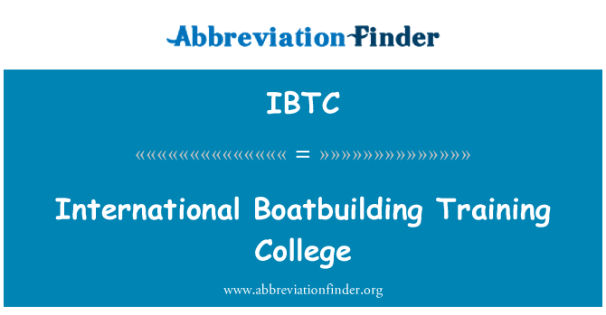 IBTC: Escuela Internacional de barcos