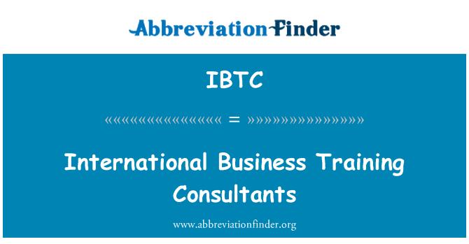 IBTC: International Business Training Consultants