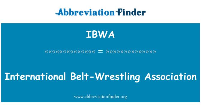 IBWA: Asociación Internacional de la lucha de correa