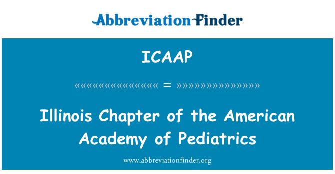 ICAAP: Illinois capítulo de la Academia Americana de Pediatría