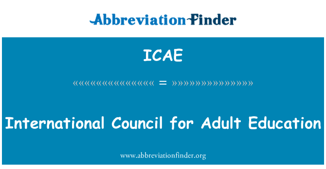 ICAE: International Council for Adult Education