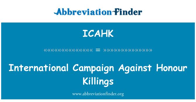 ICAHK: International Campaign Against Honour Killings
