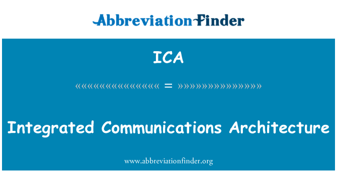 ICA: Integrated Communications Architecture