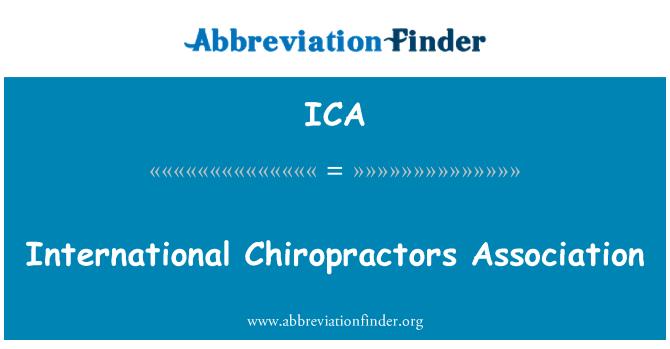 ICA: International Chiropractors Association