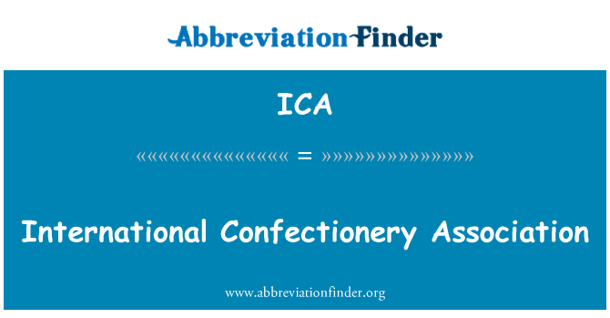 ICA: International Confectionery Association