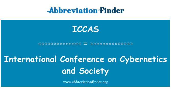 ICCAS: International Conference on Cybernetics and Society