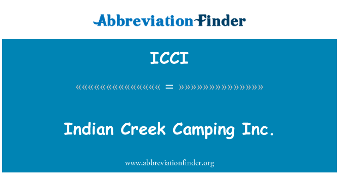 ICCI: Indian Creek Camping Inc.
