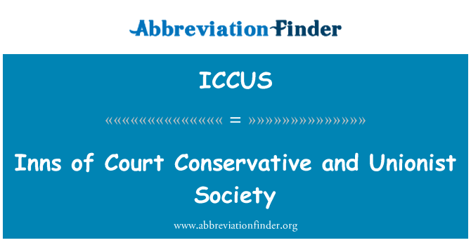 ICCUS: Inns of Court Conservative and Unionist Society