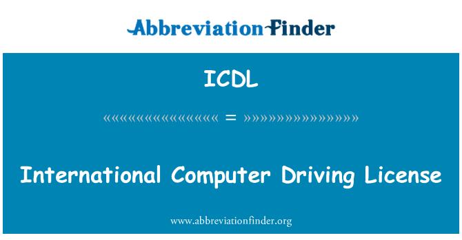 ICDL: Permiso de conducir internacional informática