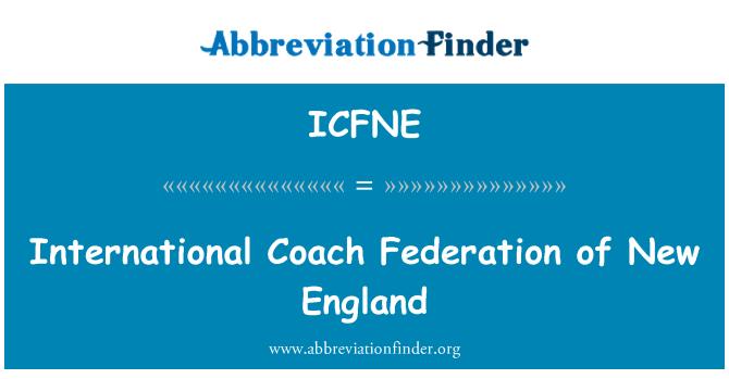 ICFNE: International Coach Federation of New England