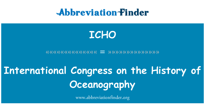 ICHO: Congreso Internacional sobre la historia de la Oceanografía