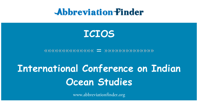 ICIOS: International Conference on Indian Ocean Studies