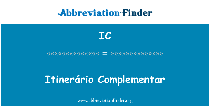 IC: Itinerário Complementar