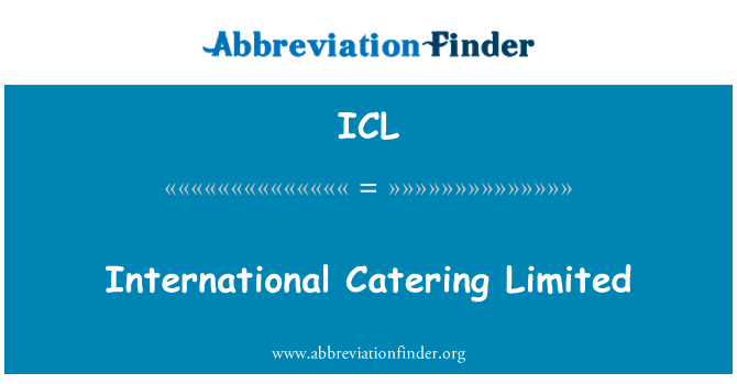 ICL: International Catering Limited