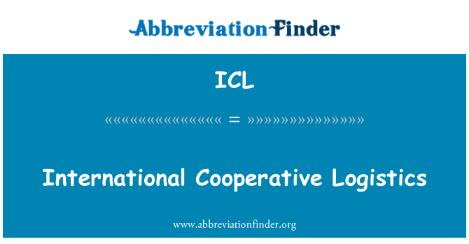 ICL: International Cooperative Logistics