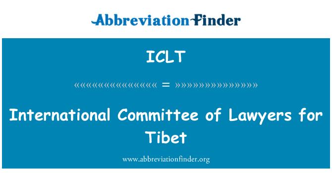 ICLT: International Committee of Lawyers for Tibet