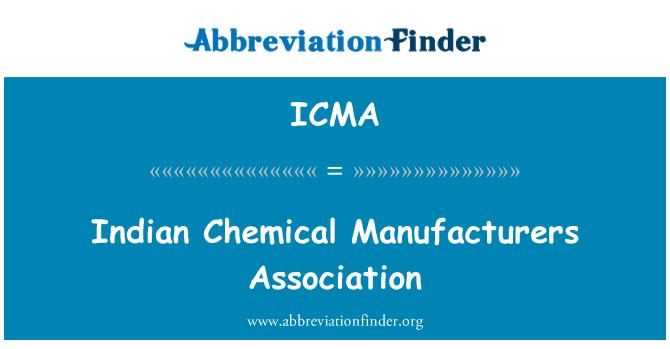 ICMA: Asociación de fabricantes químicos indio