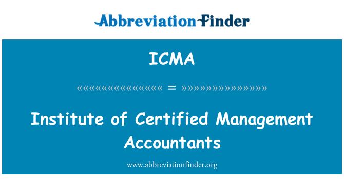 ICMA: Instituto de contadores certificados de gestión