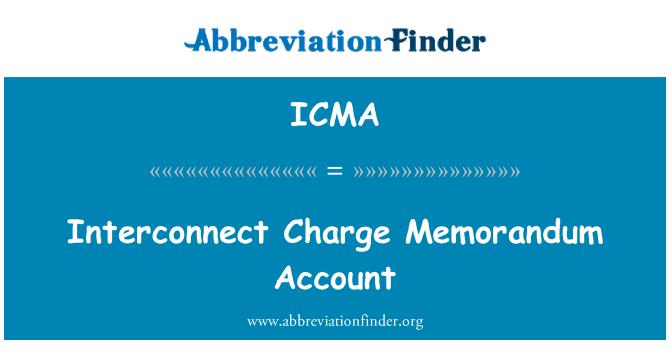 ICMA: Cuenta de orden para carga de interconexión