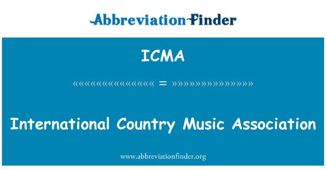 ICMA: International Country Music Association