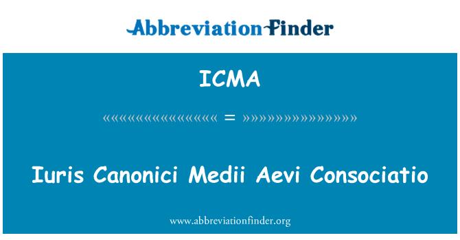 ICMA: Iuris Canonici Medii Aevi Consociatio