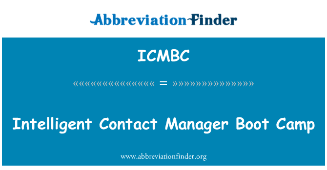 ICMBC: Intelligent Contact Manager Boot Camp