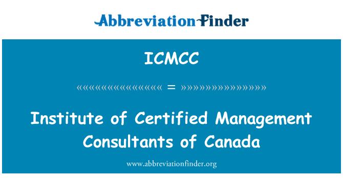 ICMCC: Institute of Certified Management Consultants of Canada