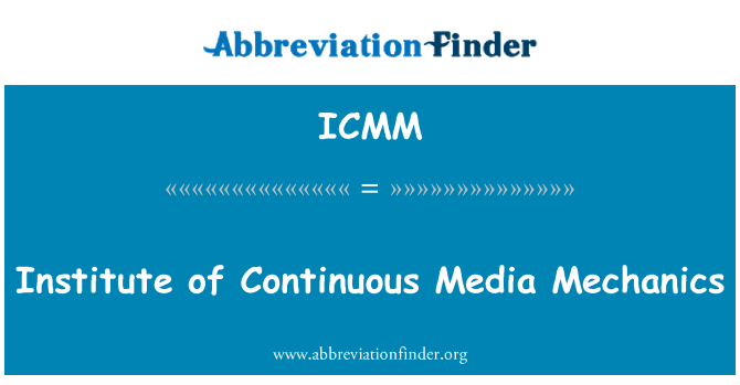 ICMM: Institute of Continuous Media Mechanics