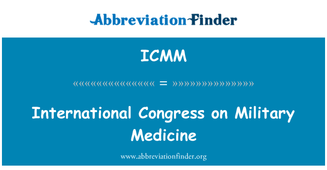 ICMM: International Congress on Military Medicine