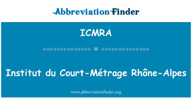 ICMRA: Institut du Court-Métrage Rhône-Alpes