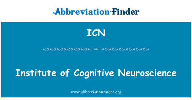 ICN: Institute of Cognitive Neuroscience