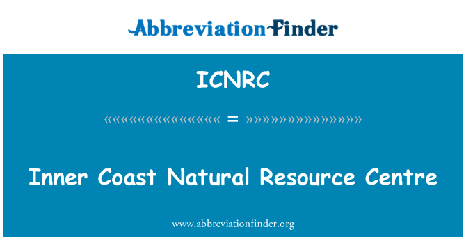 ICNRC: Inner Coast Natural Resource Centre