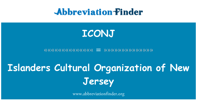ICONJ: Islanders Cultural Organization of New Jersey