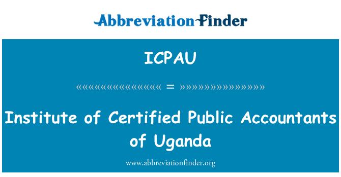 ICPAU: Institute of Certified Public Accountants of Uganda