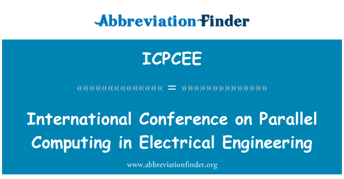 ICPCEE: International Conference on Parallel Computing in Electrical Engineering