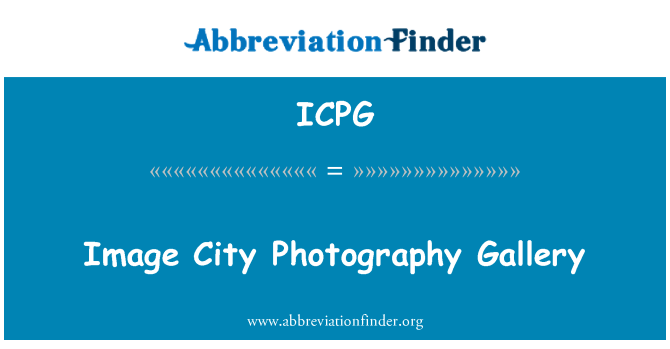 ICPG: Image City Photography Gallery